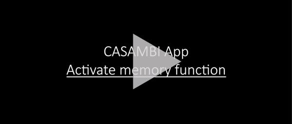 CASAMBI APP: ACTIVATE MEMORY FUNCTION
